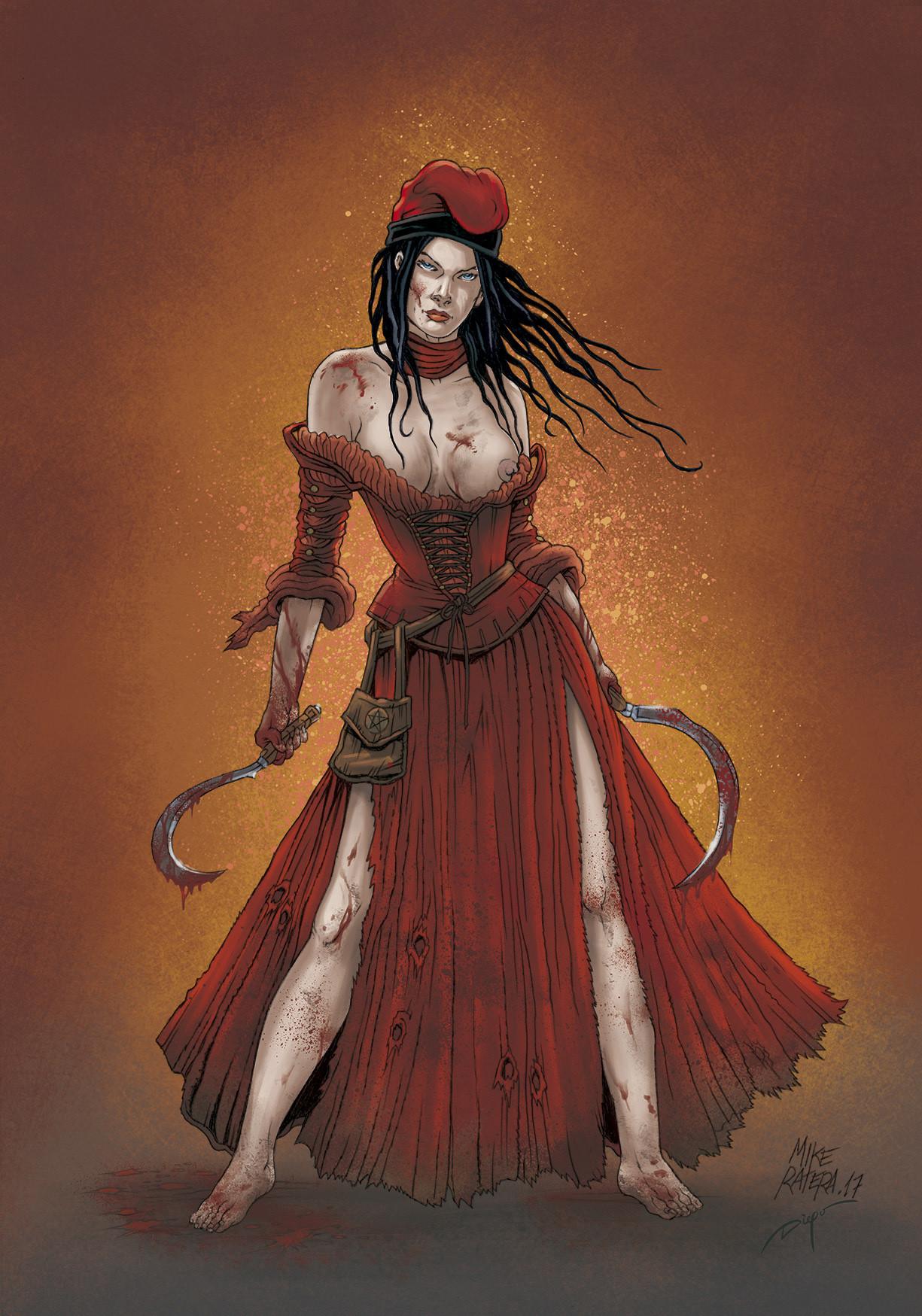Mike ratera segadors reaper girl concept 3 color