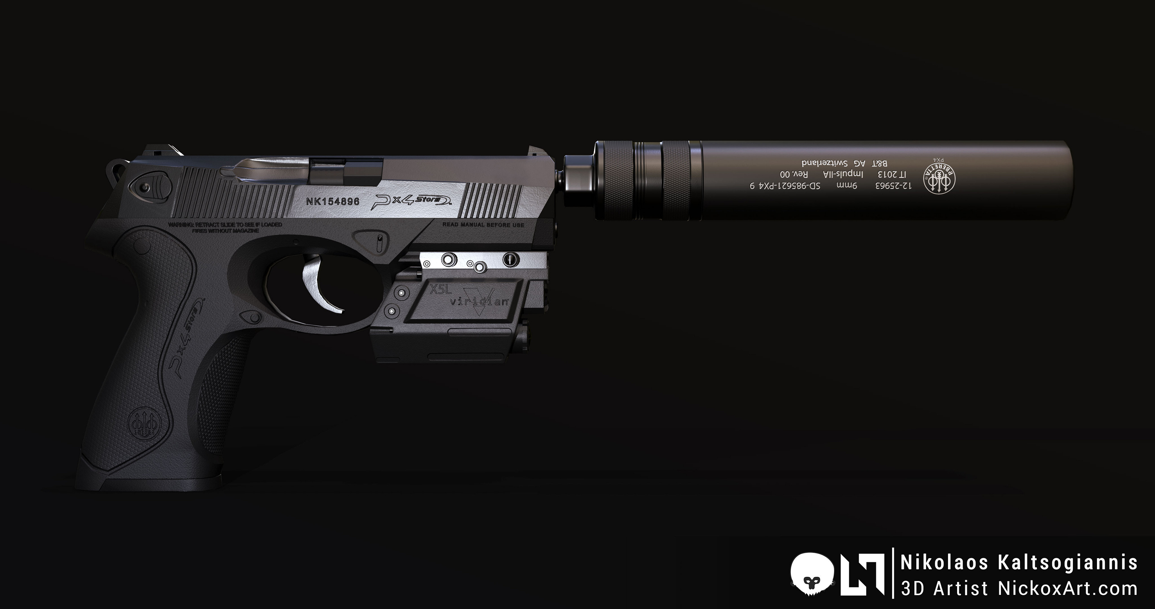 With Silencer and Laser / Flashlight Combo