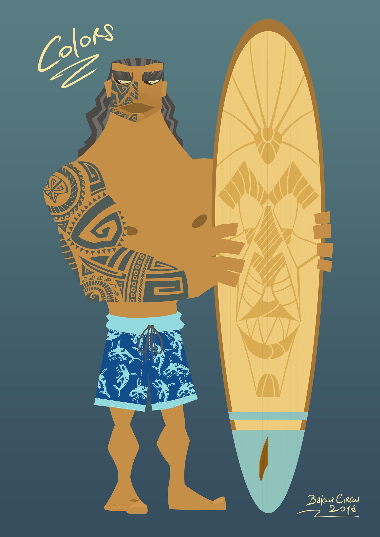 Bakuss circus 02 maori surfer colors