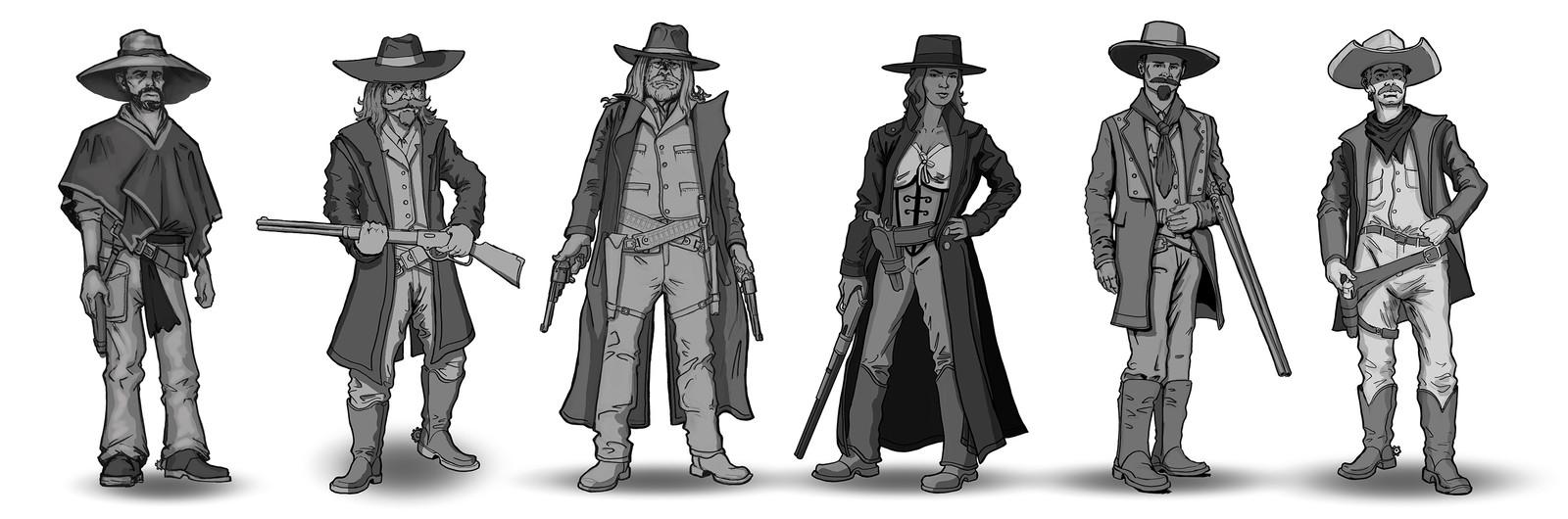 western warm up sketches