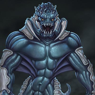 Travis lacey hulking creature concept art travis lacey web