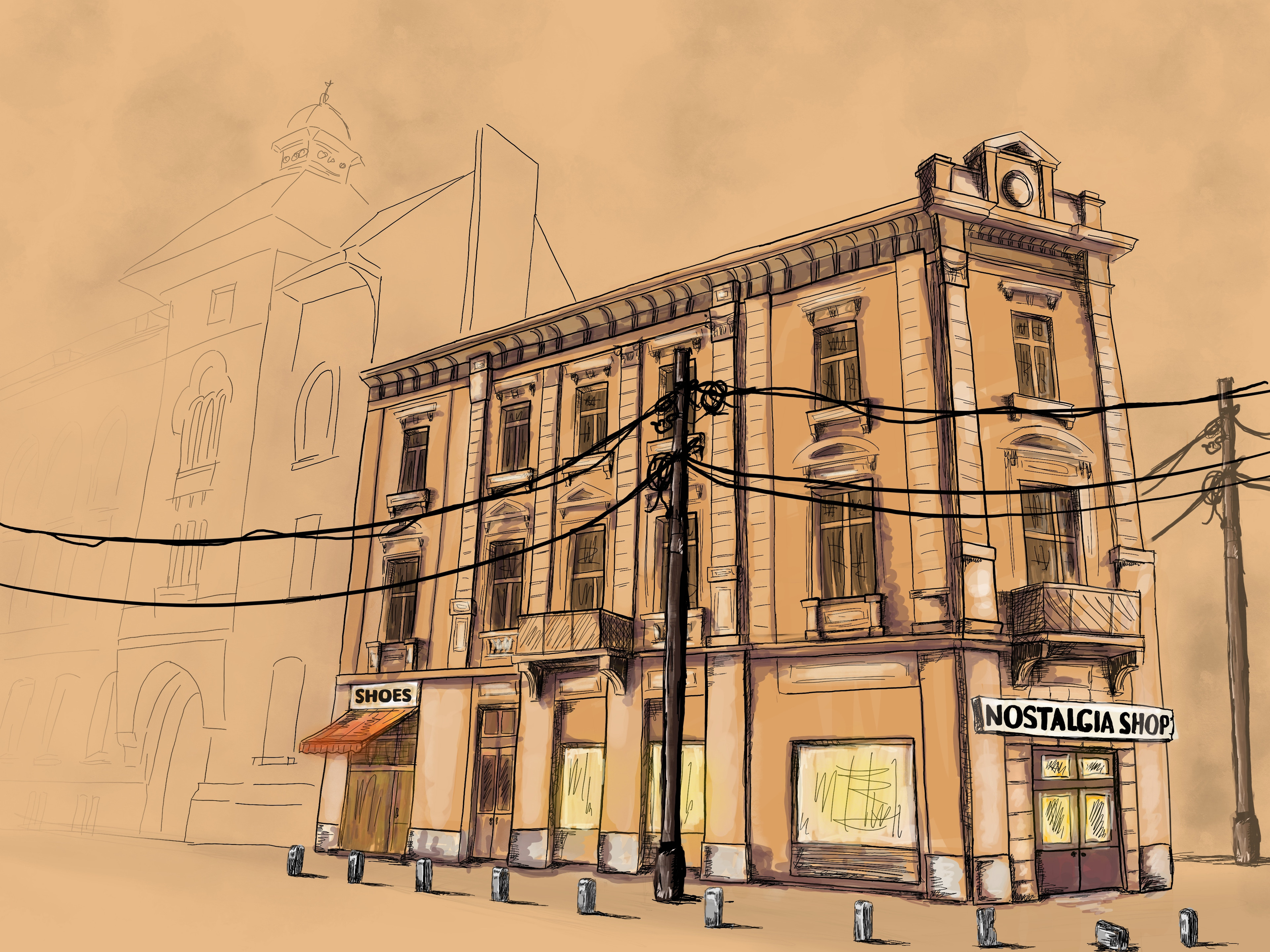 Architectural sketch study
