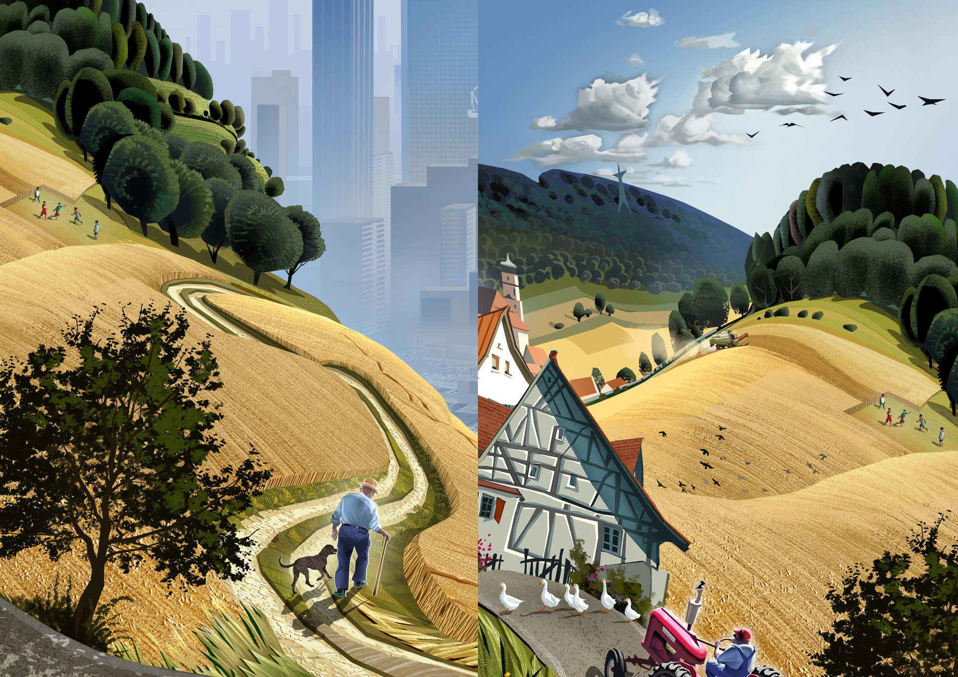 Harald ardeias countryside to megacity detail 1