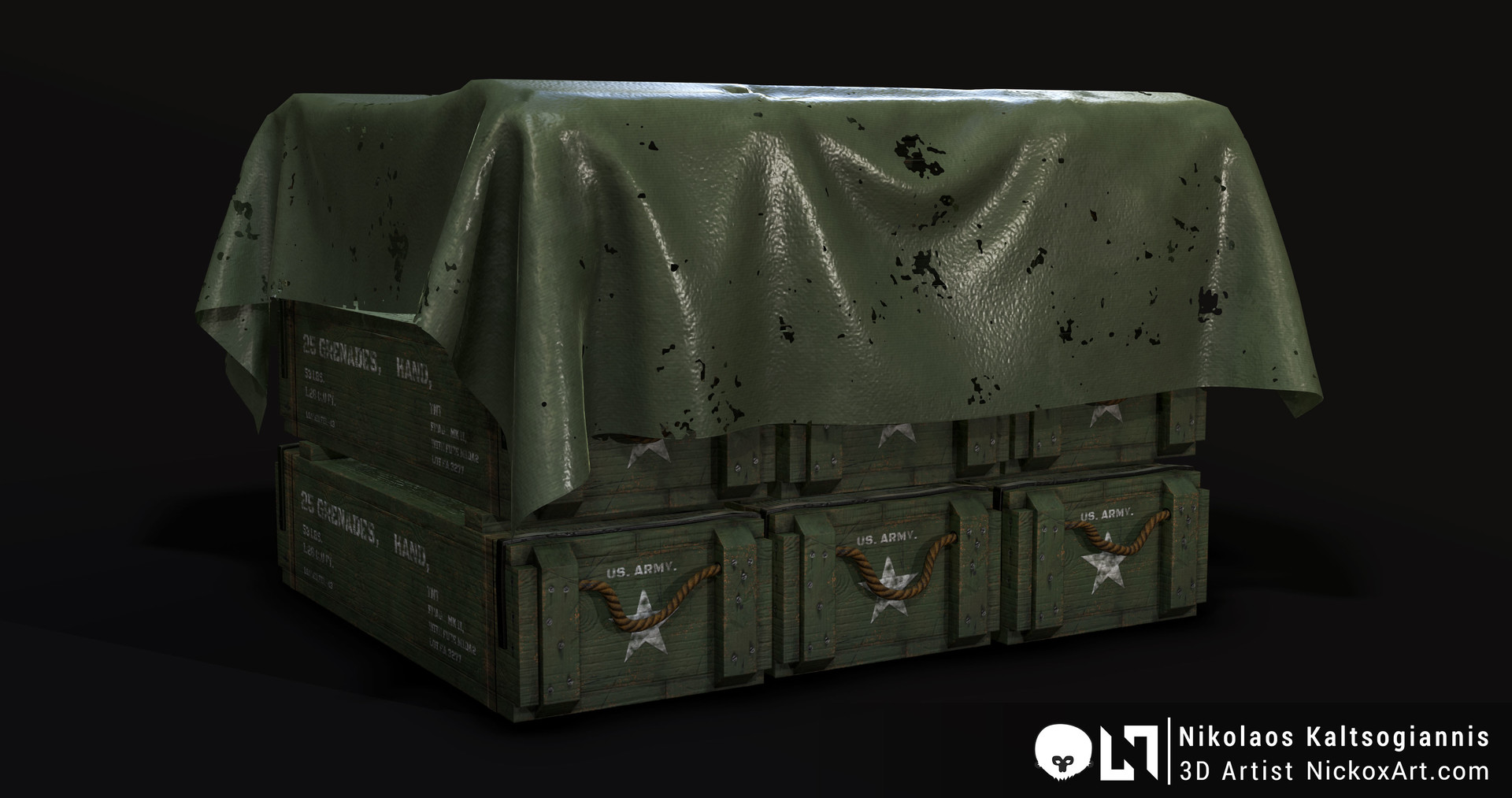 Grenade Crate Prefabs. They come with and without the plastic cover.