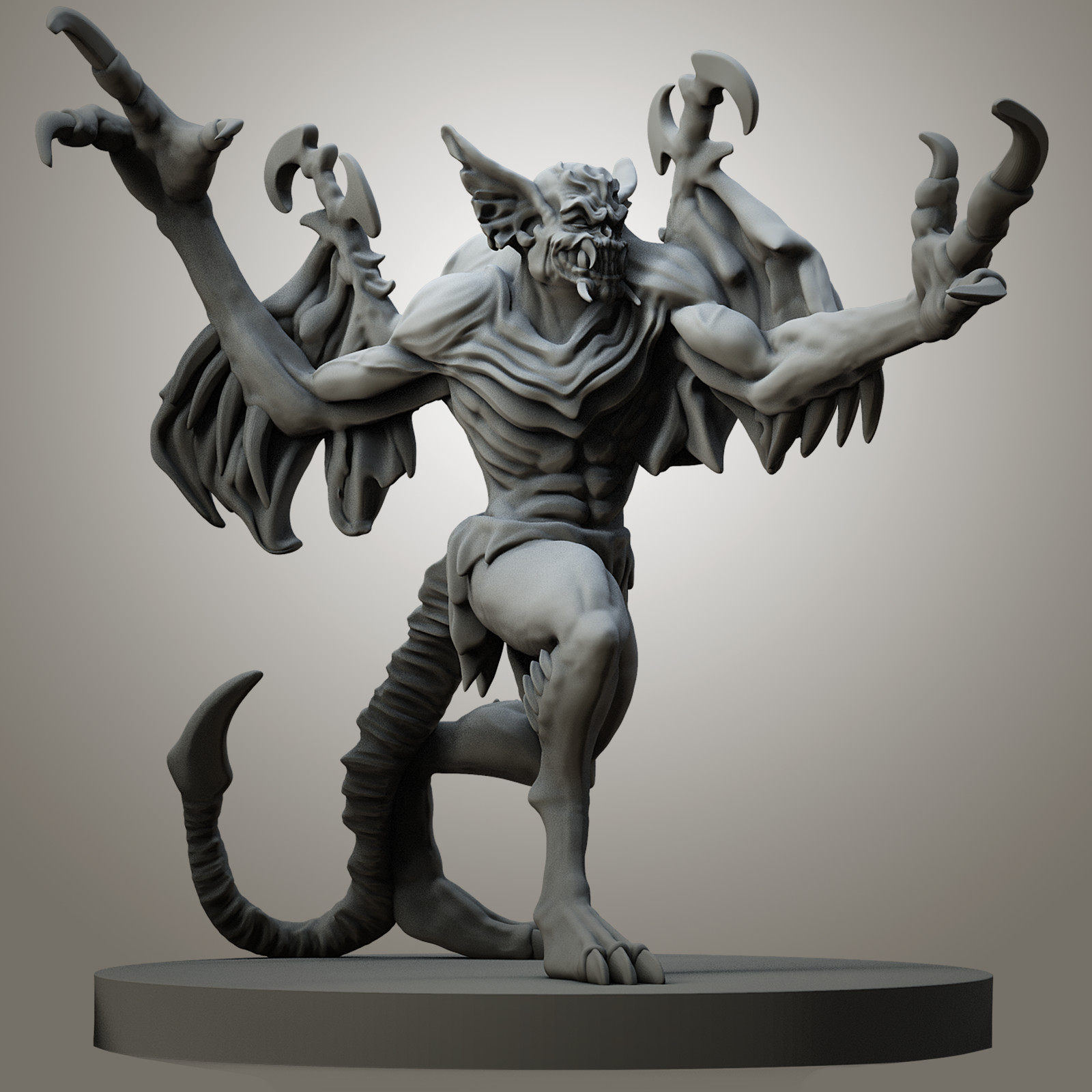 Shattered Chaos boardgame miniatures - Bloodghul
