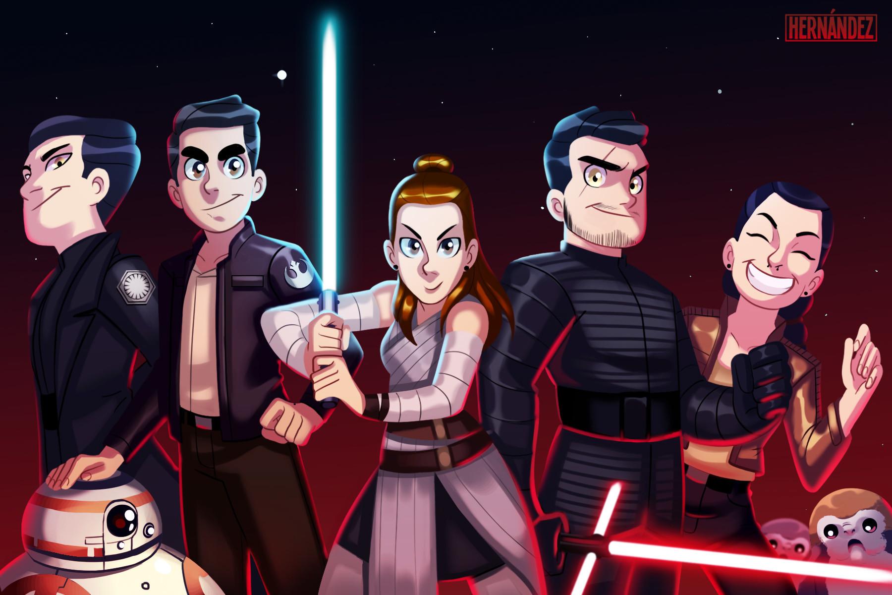 The Last Jedi team Star wars tribute. 2017