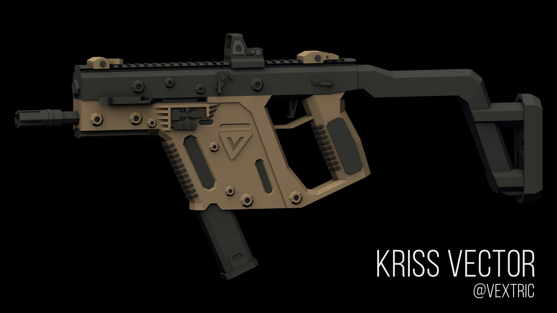 Vextric _ - Low Poly Kriss Vector