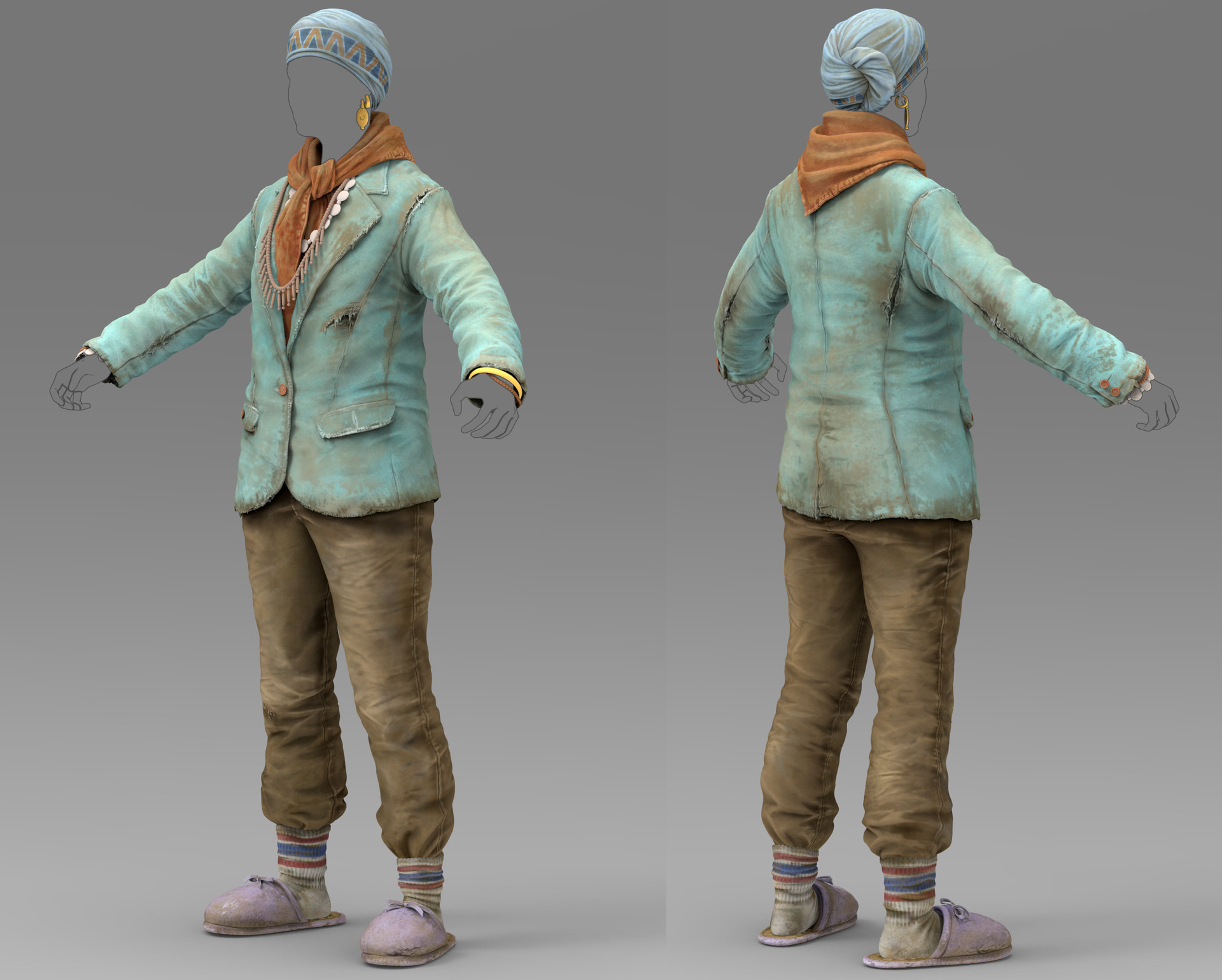 ArtStation - Fallout 4 Mama Murphy Outfit, Charles Kim
