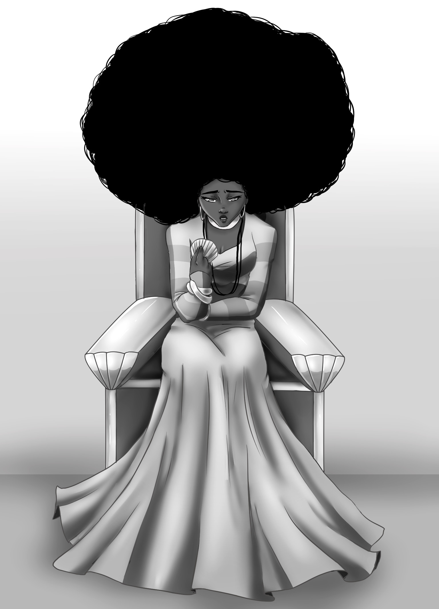 ArtStation - Abiola et la déesse des mers, Mégane Cuvelier