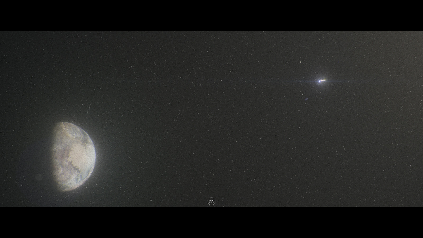Last photo of the Daybreak on the Solar System