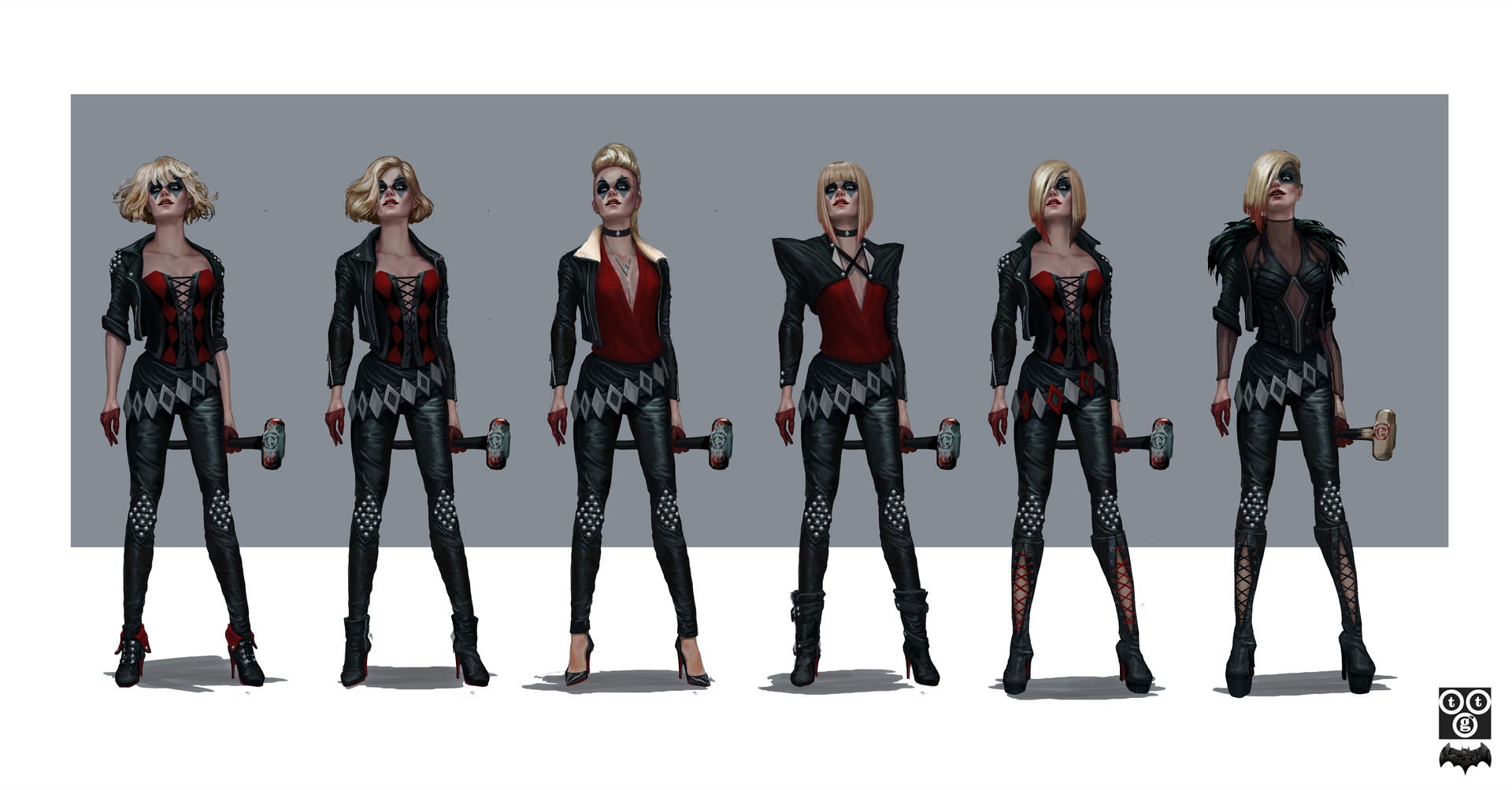 Harley color roughs