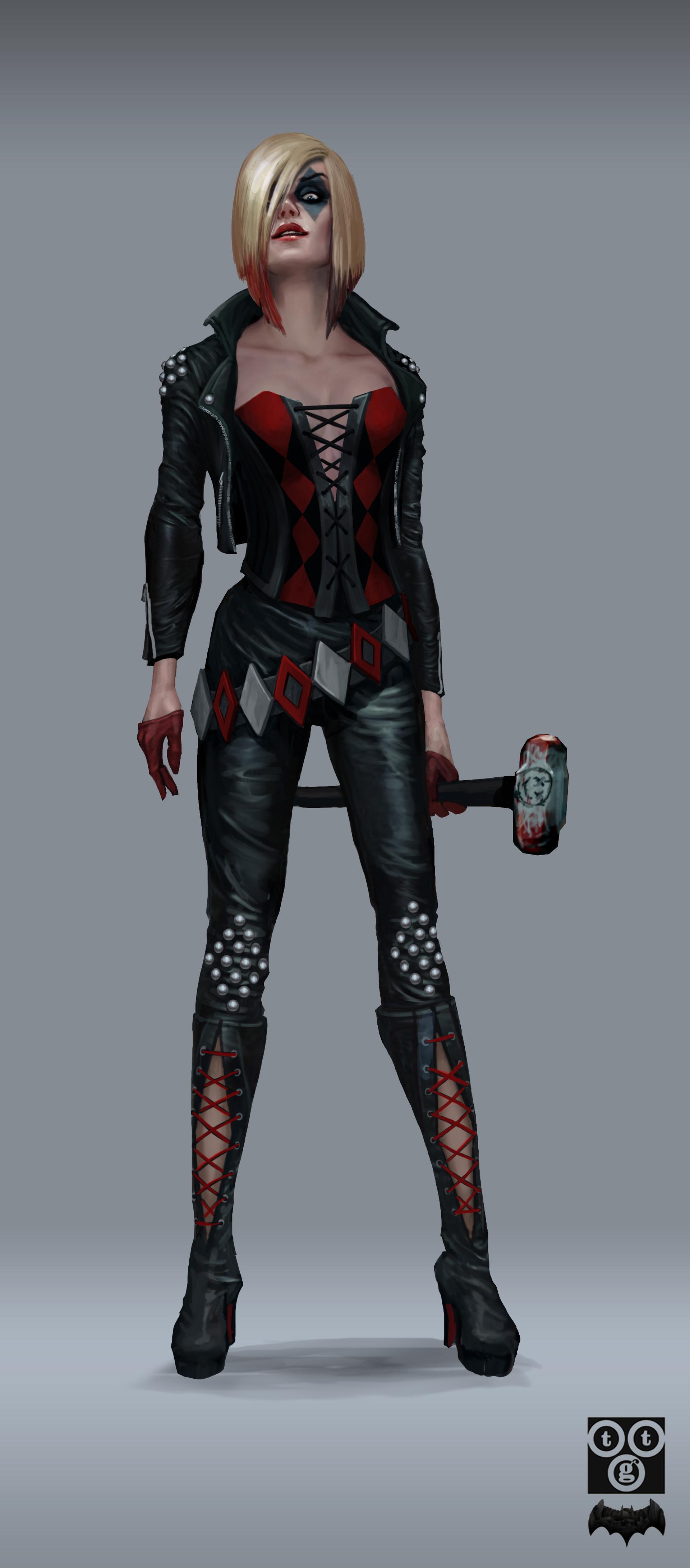 Final Harley concept for Batman Telltale series