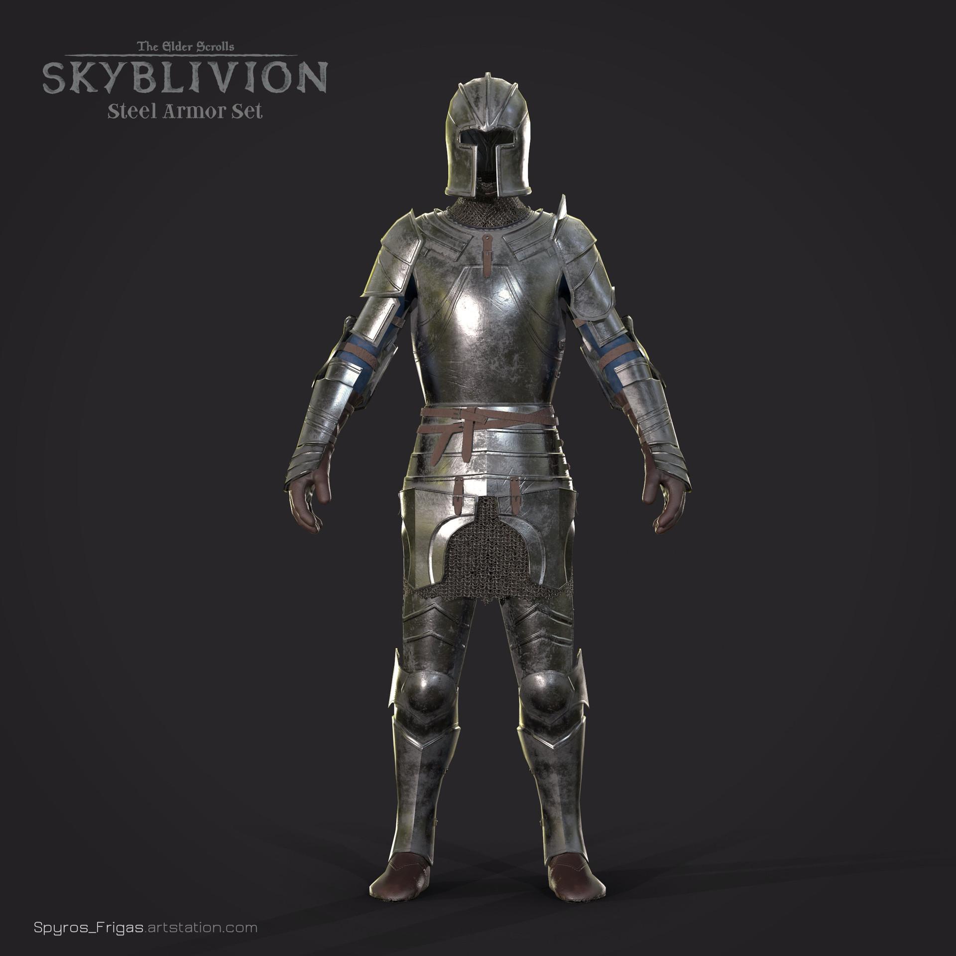 ArtStation - Steel Armor set - TES:Skyblivion, Spyros Frigas