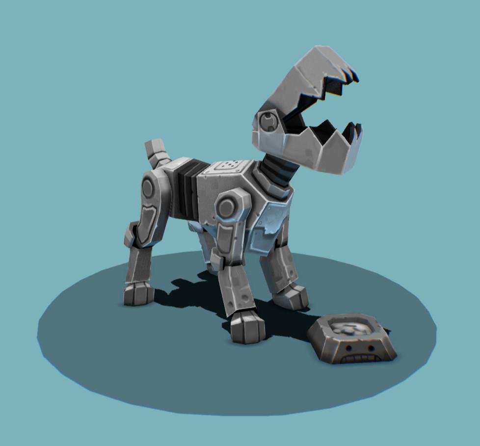 mini robo dog is happy