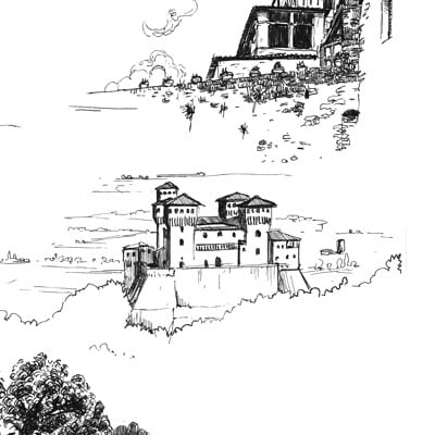 Giacomo tappainer sketches castles comp 05