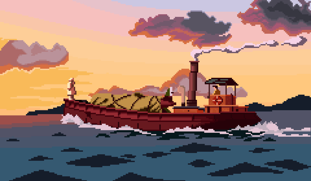 Porco Rosso Pixel Art