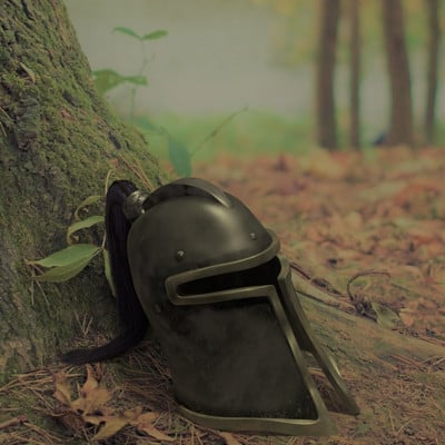 Emil larsen helmet textured forrest bended2