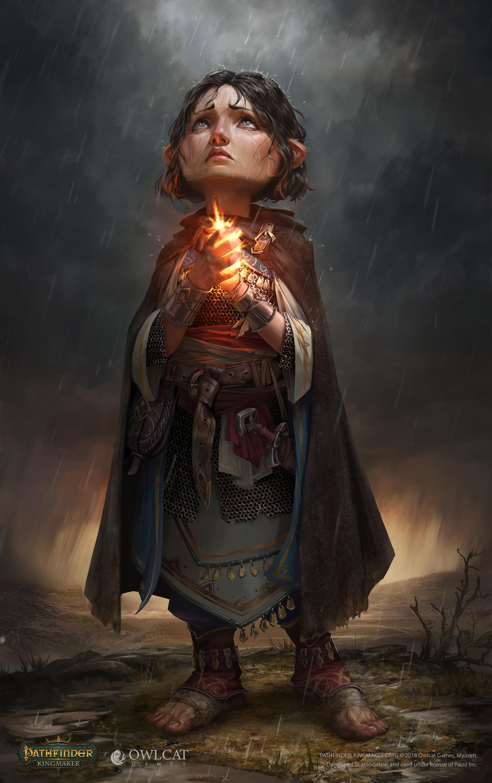 Halfling Priest for Pathfinder: Kingmaker by Sergey Gurskiy