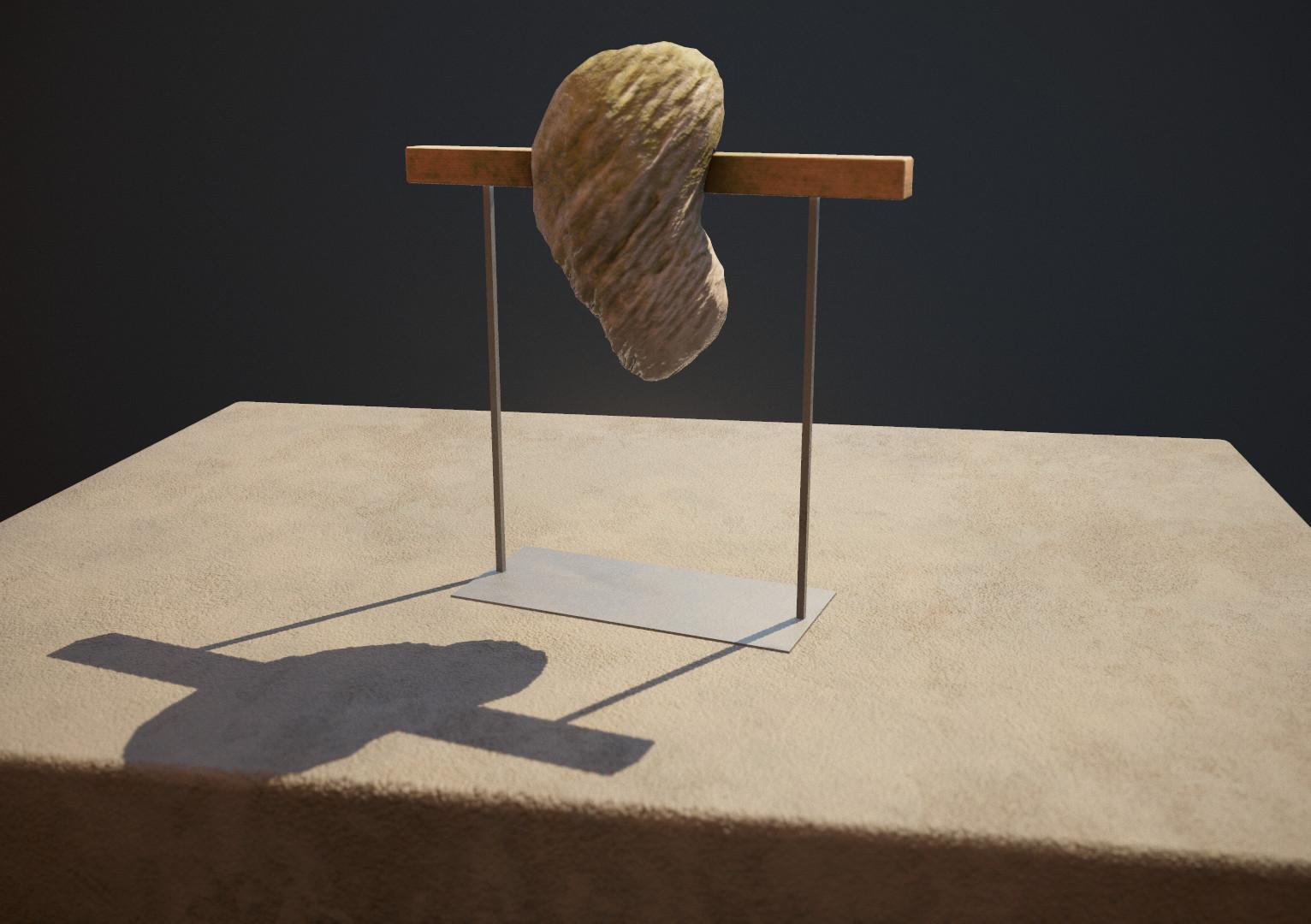 Stone of Spiritual Understanding, orig. by Isamu Noguchi.