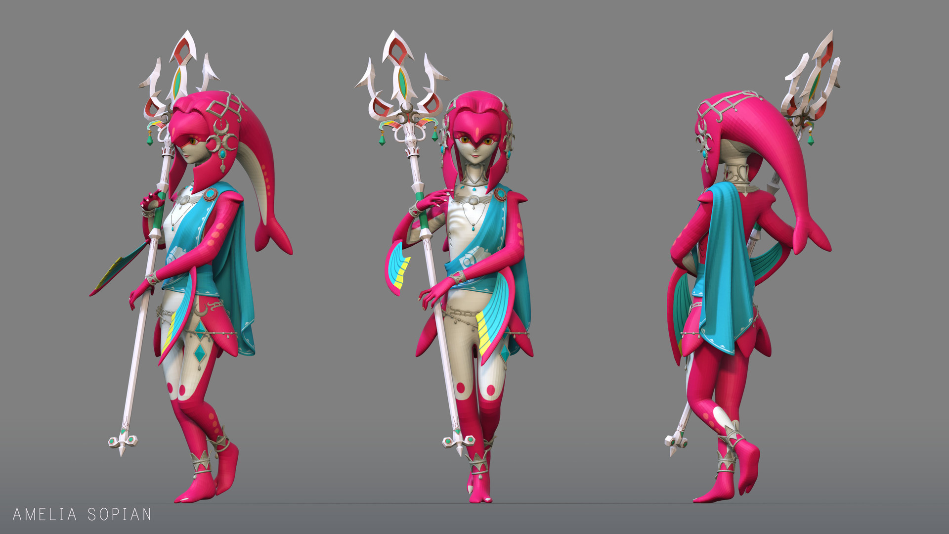 Artstation Princess Mipha The Legend Of Zelda Breath Of The