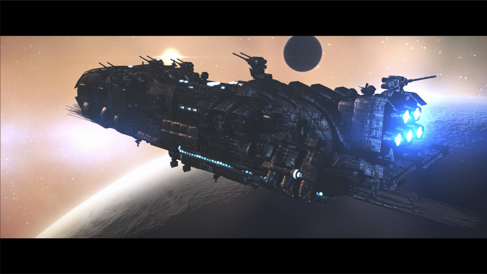 Outside Earth® WIP - Scene 05 - Warship