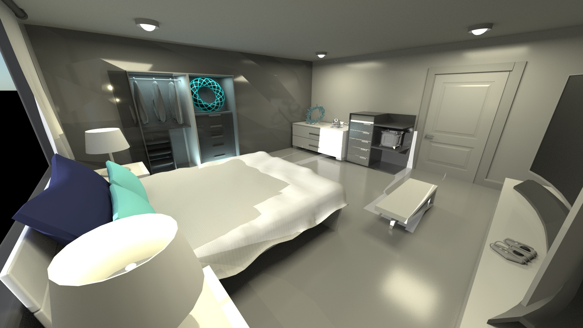 Small Modern Futuristic Room