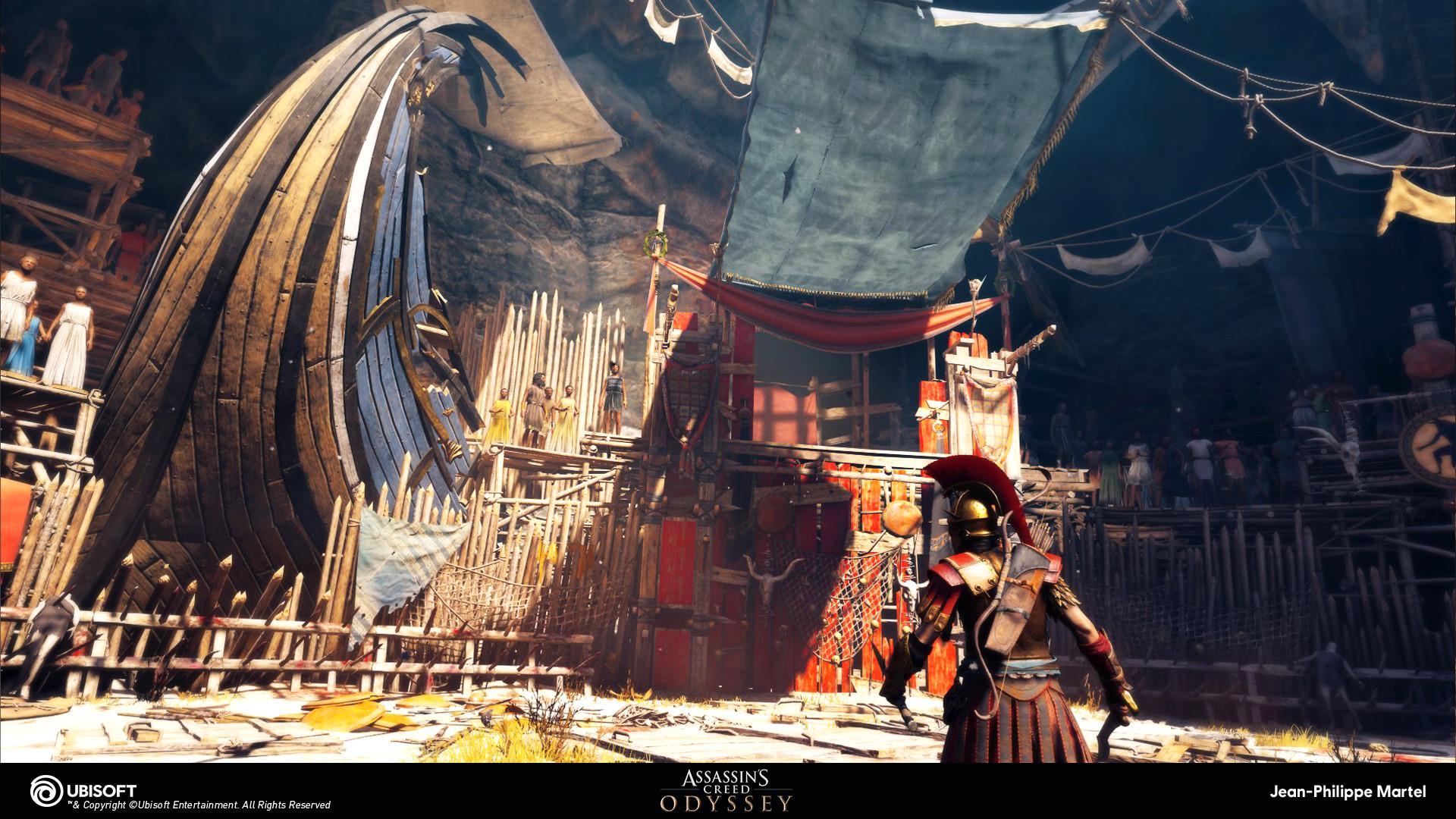 Artstation Assassin S Creed Odyssey Arena Jean Philippe Martel