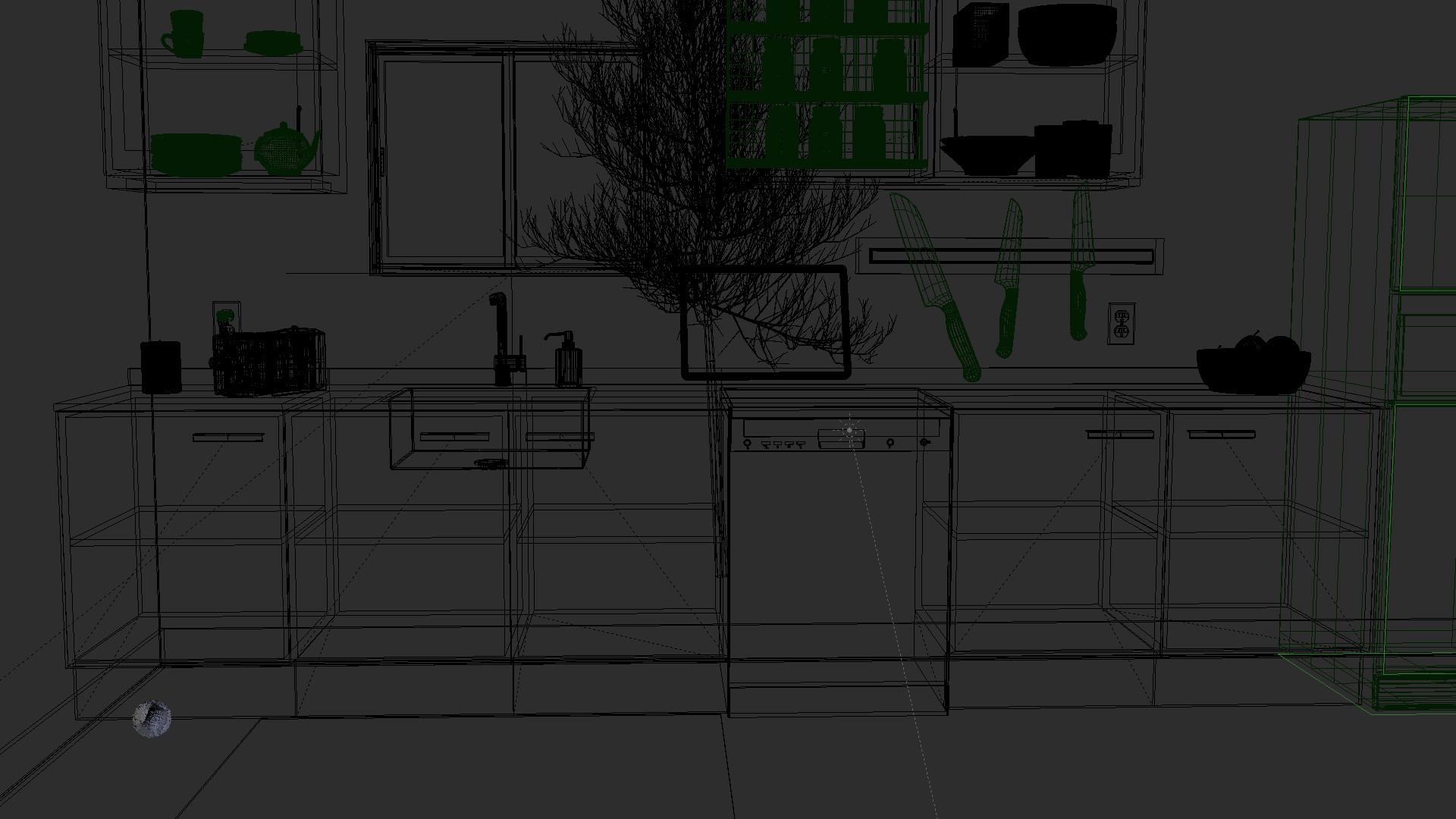 Wire frame render