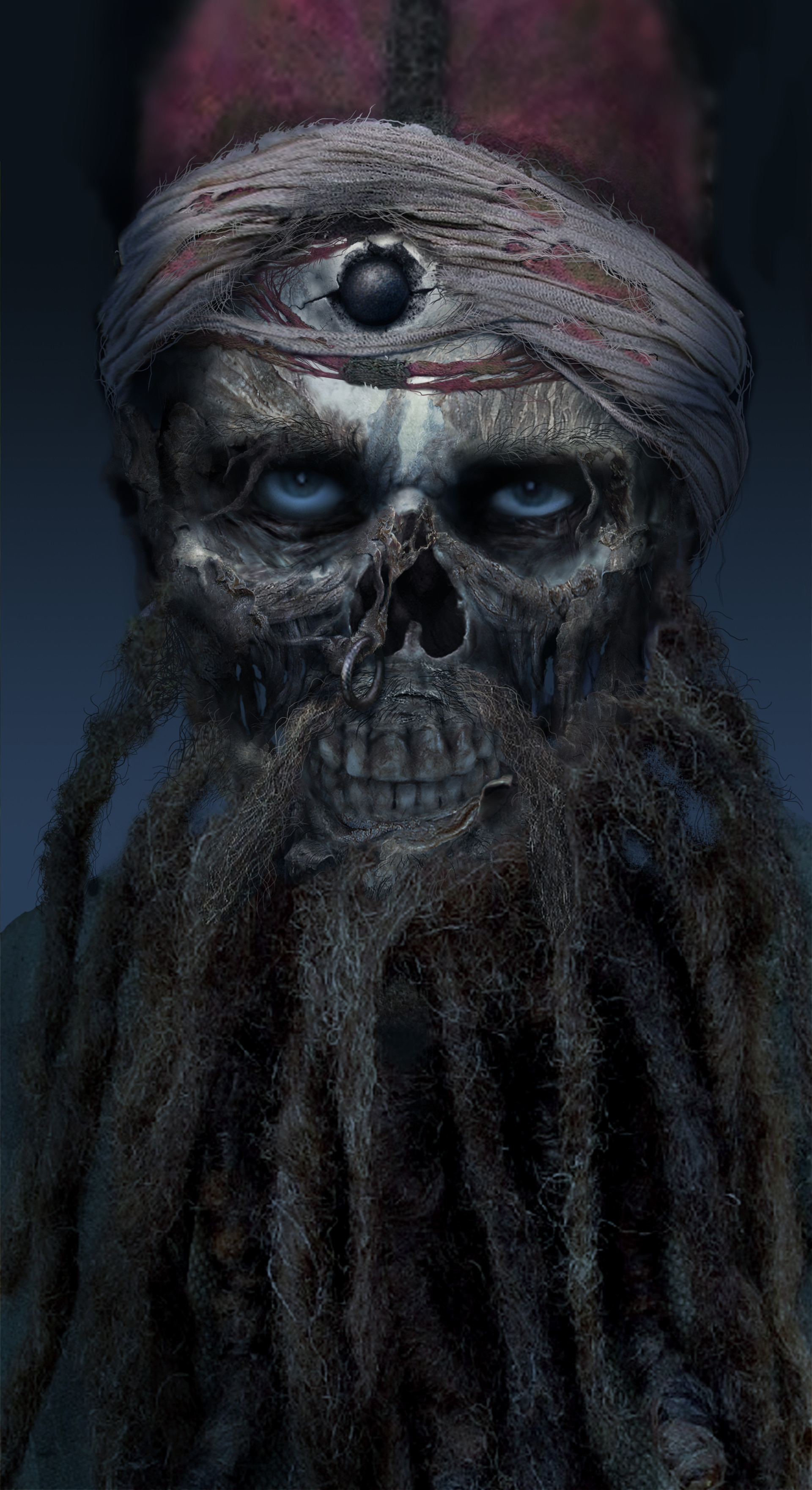 Aaron Mcbride Pirates Of The Caribbean The Curse Of The Black Pearl 2003 Jacoby Pirate Head Concept