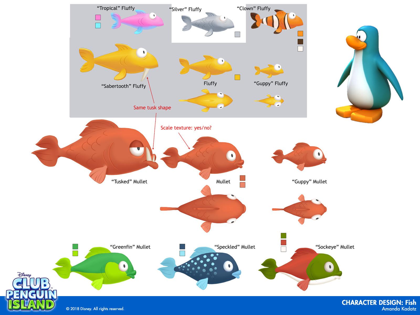 Amanda k charactersfish