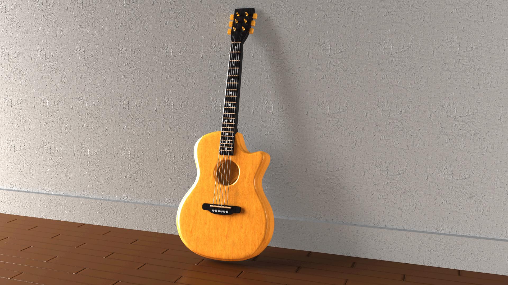 Rahul raj guitar 3d model