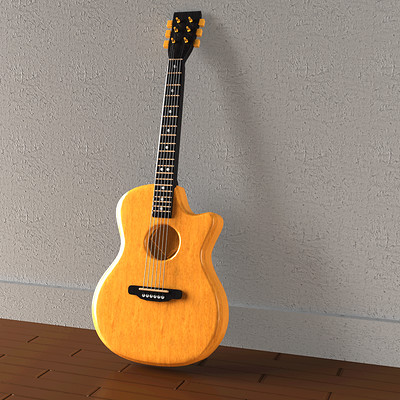 Rahul raj guitar 3d model