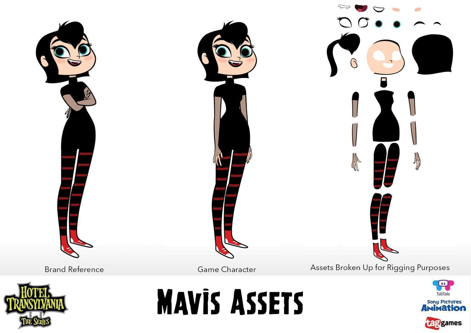 Character Assets broken up for rigging - Mavis