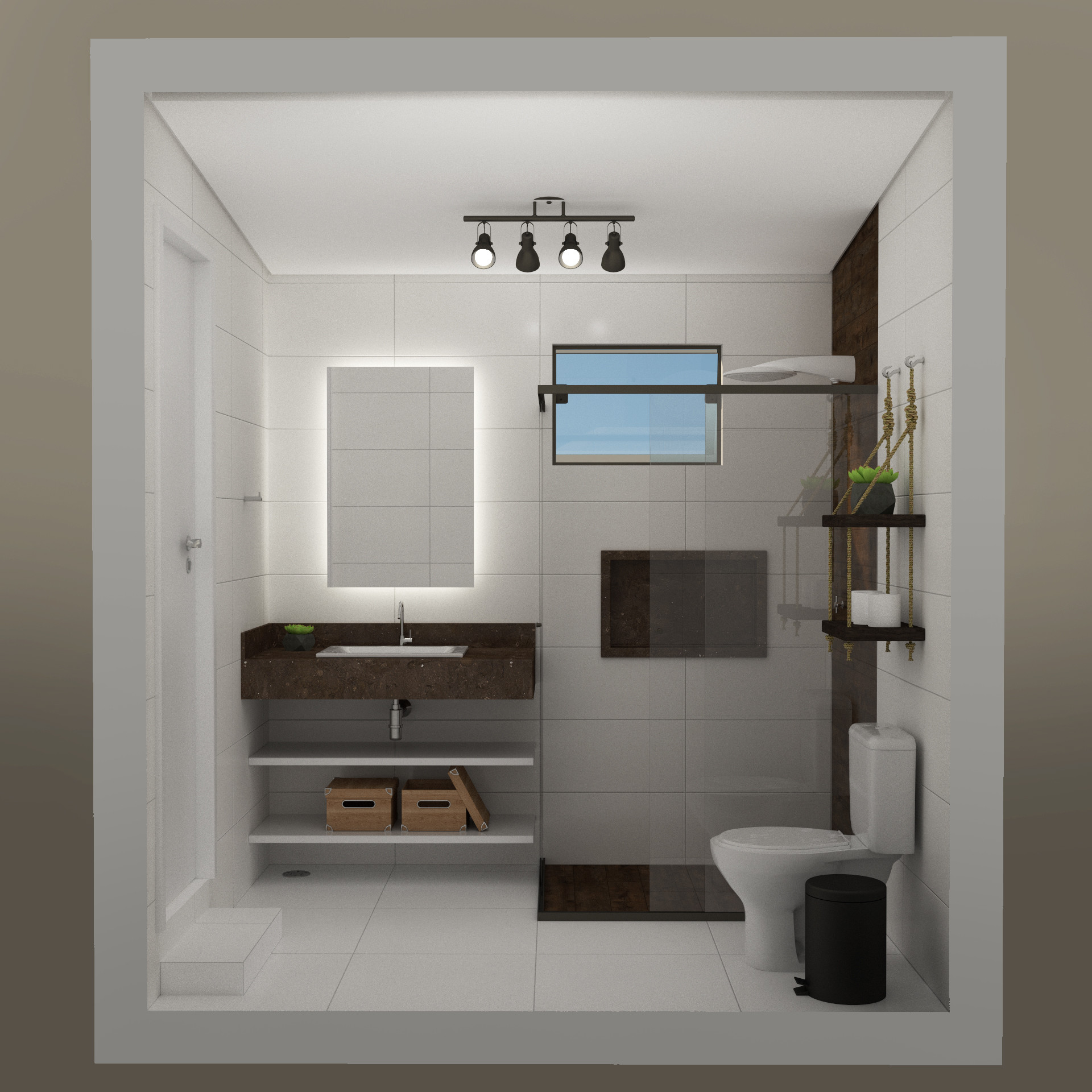 ArtStation - Bathroom design & render, Natalia Brasil