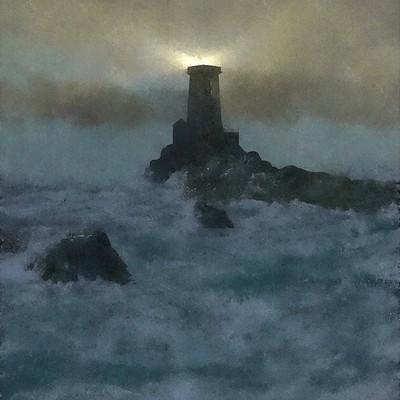 Paul bury lighthouse watercolor