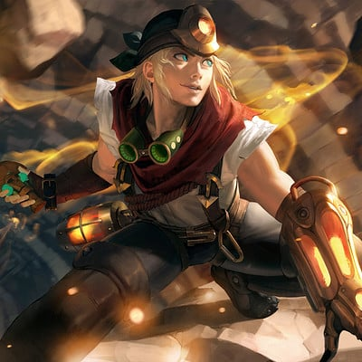 Sangsoo jeong explorer ezreal splash art