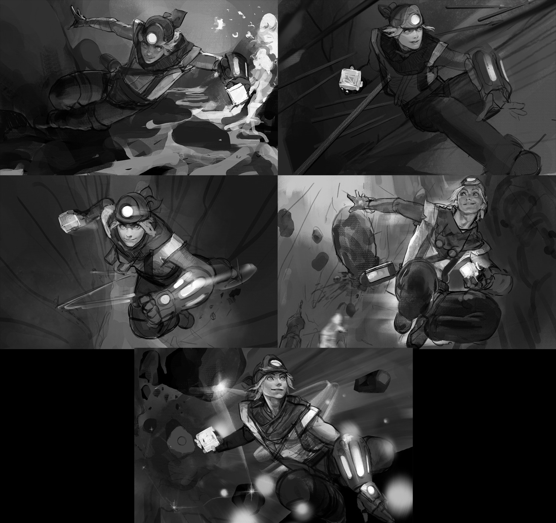 Artstation Explorer Ezreal Splash Art Sangsoo Jeong