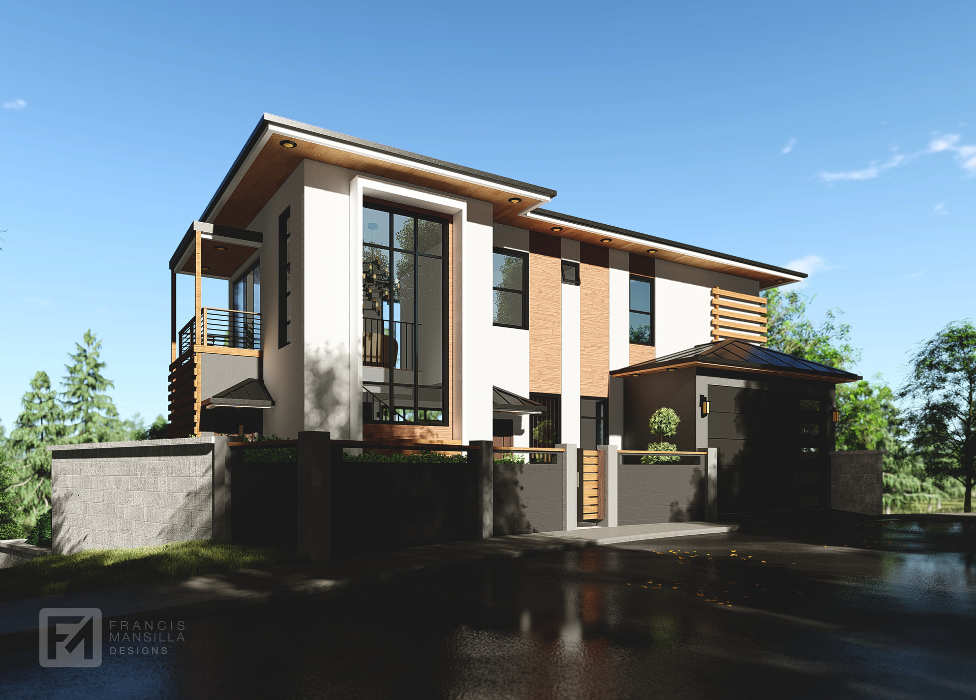 Artstation Proposed Two Storey Residence With Basement Francis Mansilla