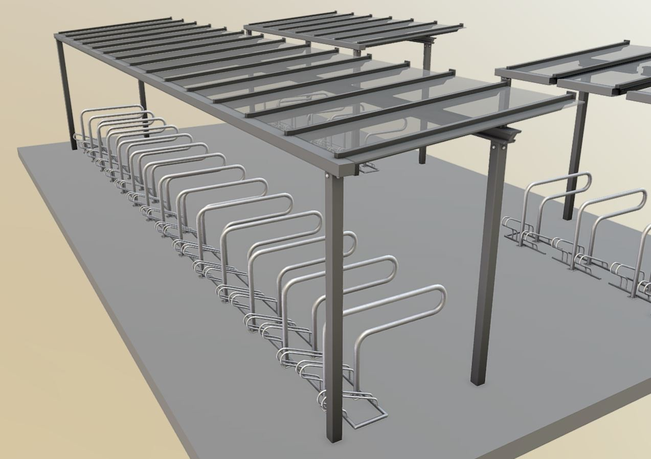 Bicycle-Shelter-With-Glass-Roof (Baked Version)