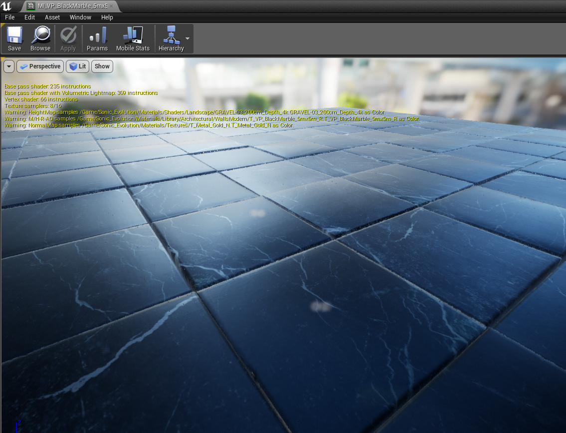 Parallax mapping pixel shader