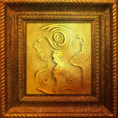Vangelis choustoulakis golden painting