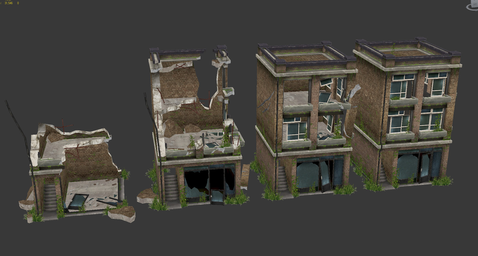 Broken building variations 3