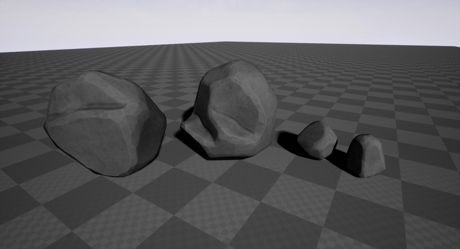 Smaller single rocks