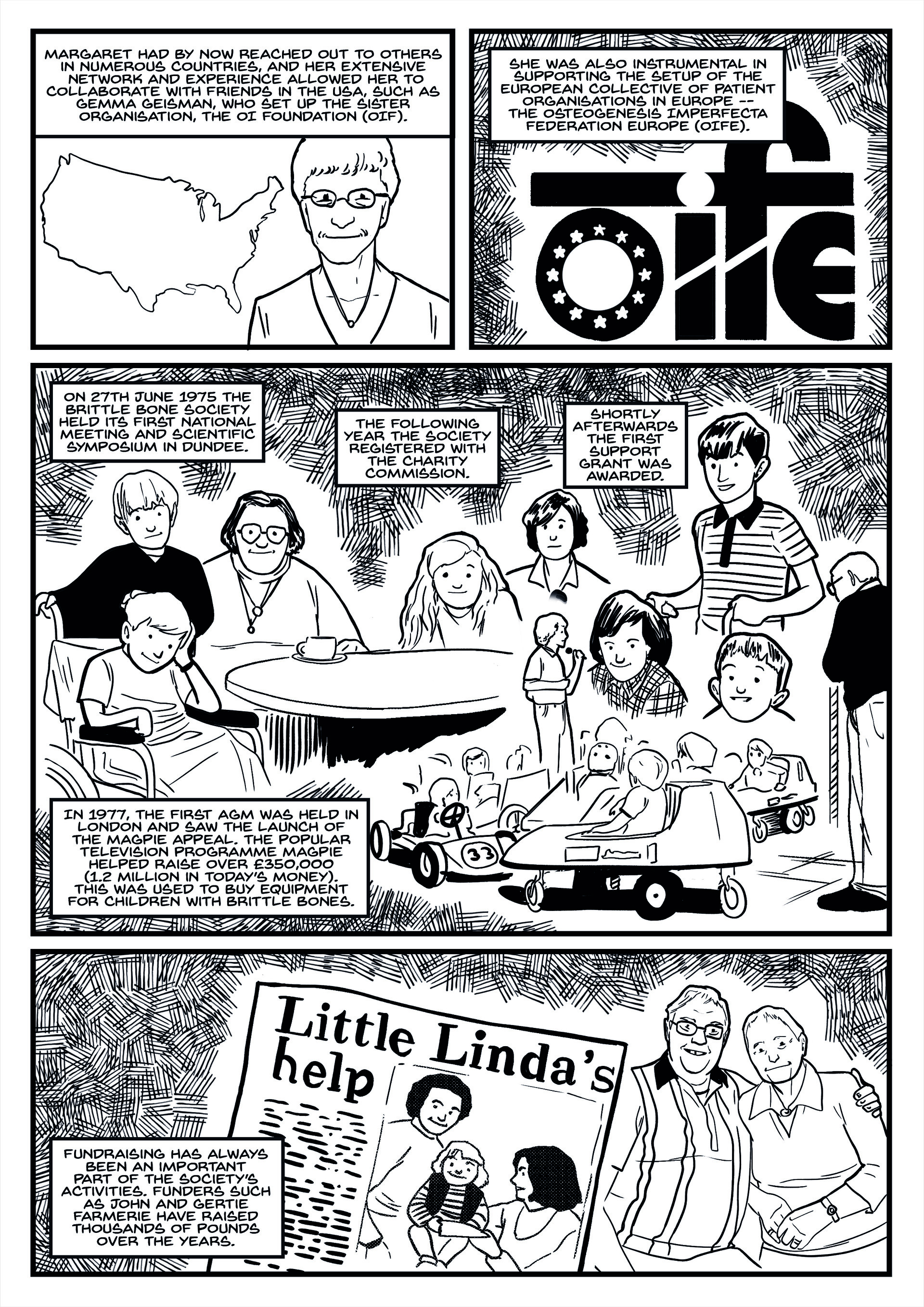 Elliot balson brittle bone society comic page 4 inks