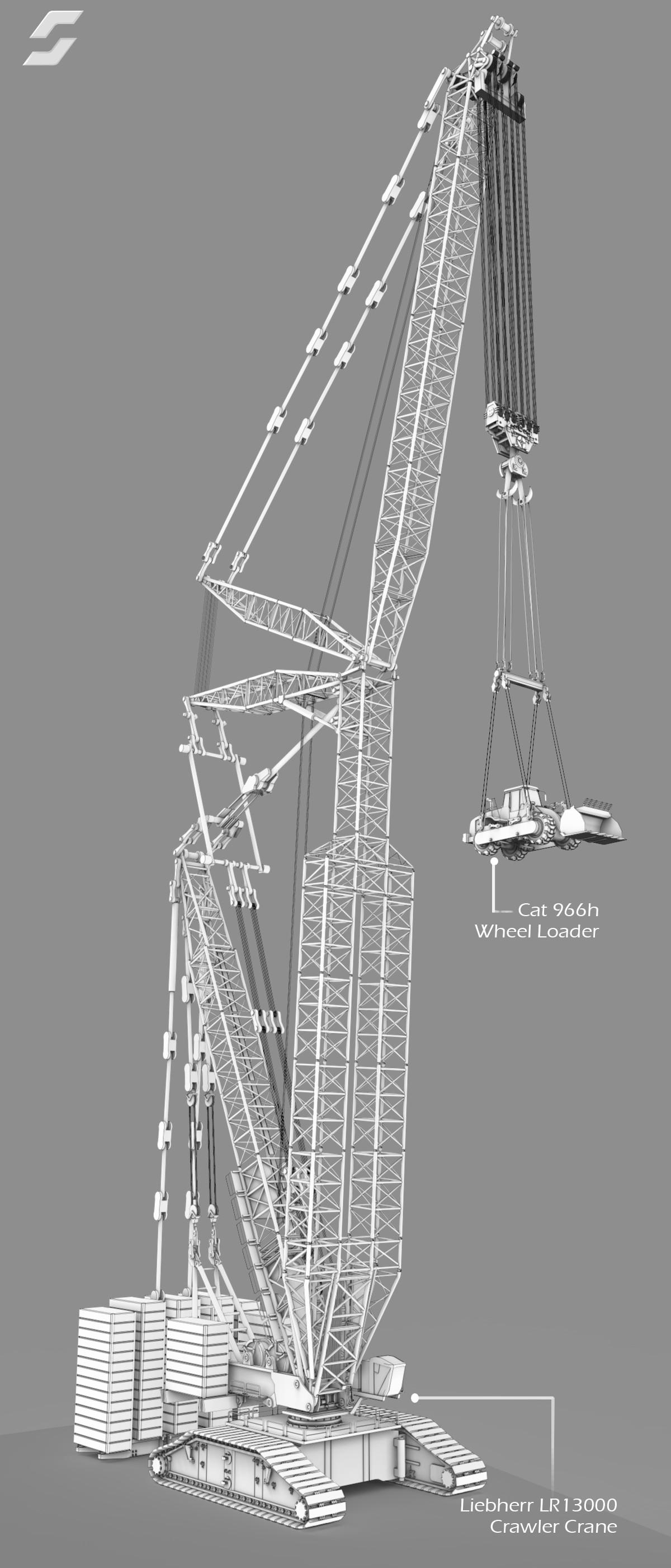 ArtStation - Liebherr LR 13000 Crawler Crane, Alber Silva