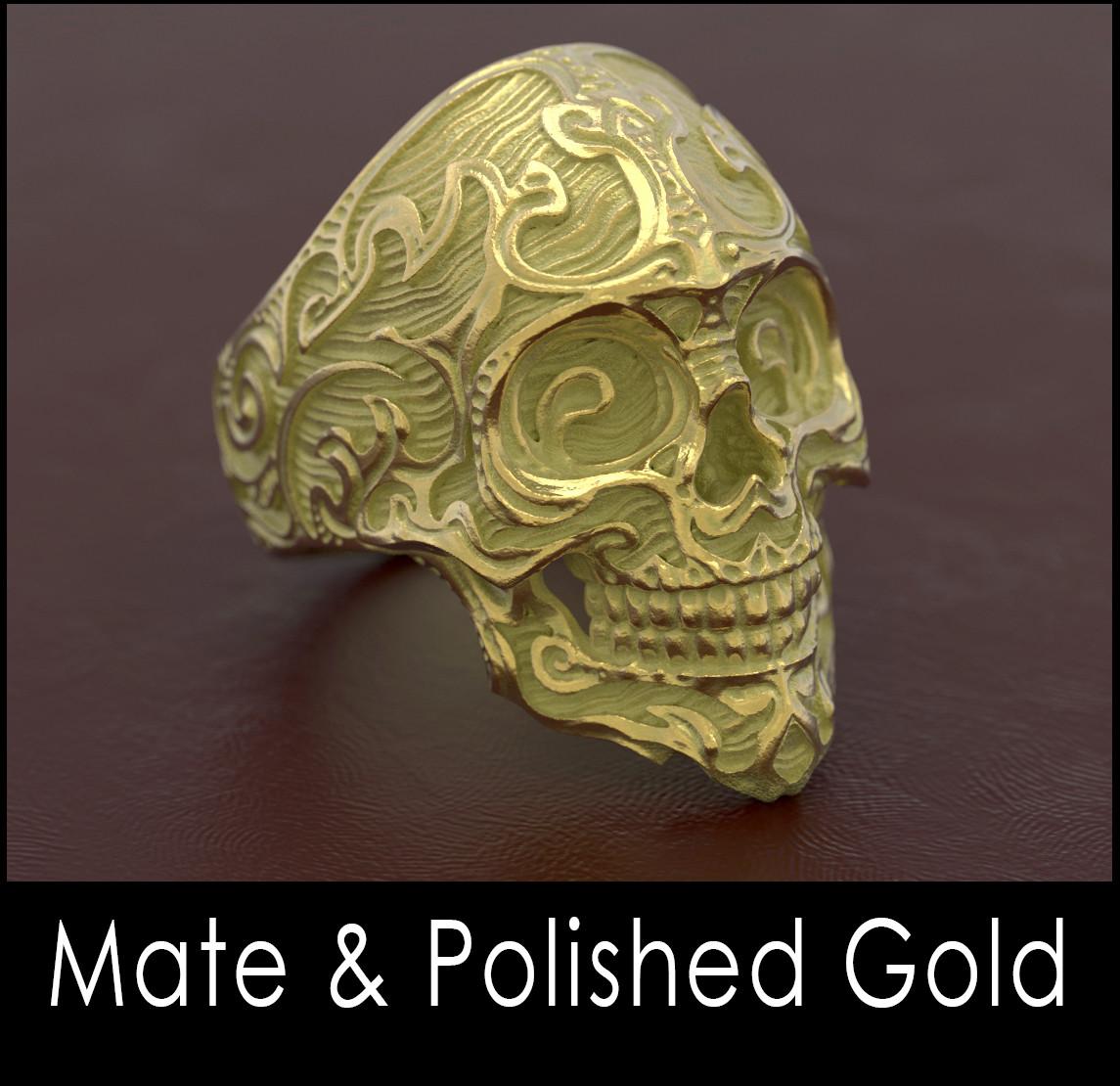 Nacho riesco gostanza mate polished gold