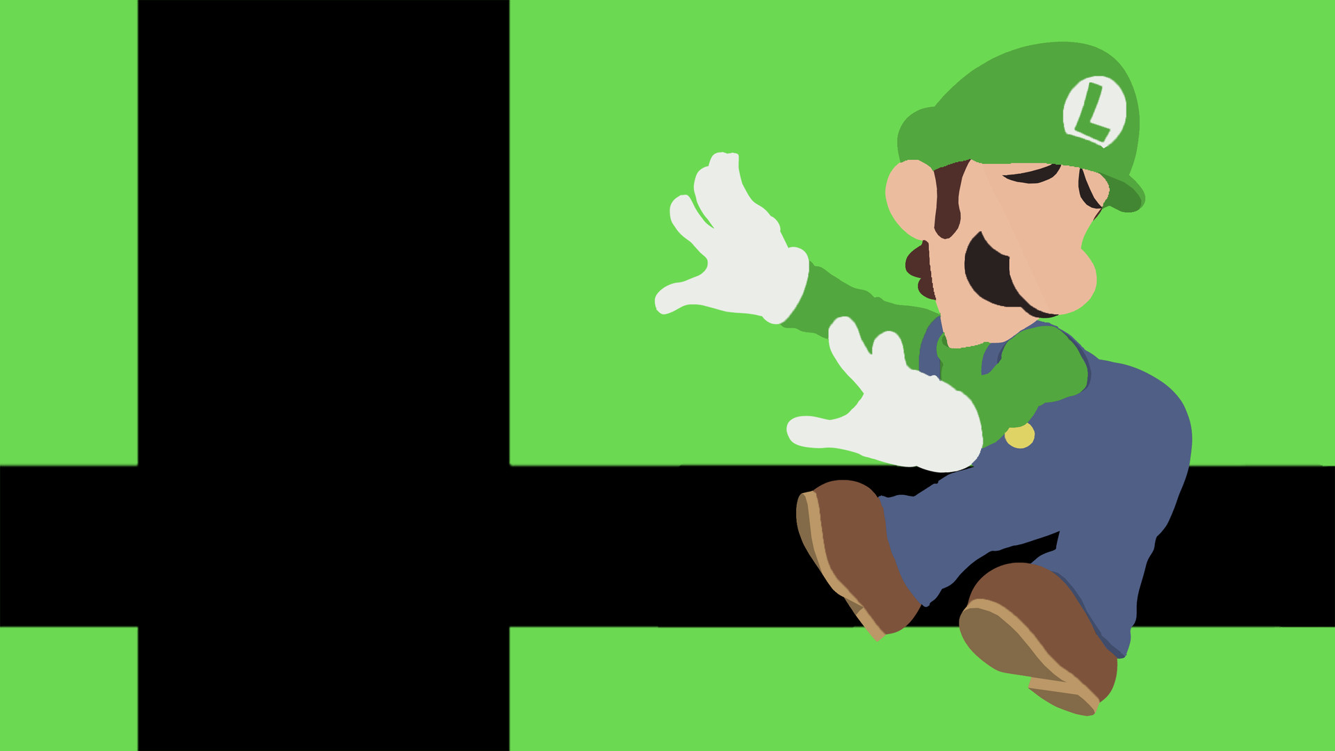 Artstation Super Smash Bros Ultimate Wallpaper Luigi Minimalist