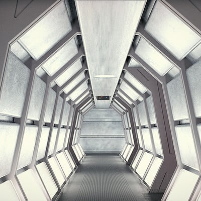 Paul wiz johnson star trek corridor 01