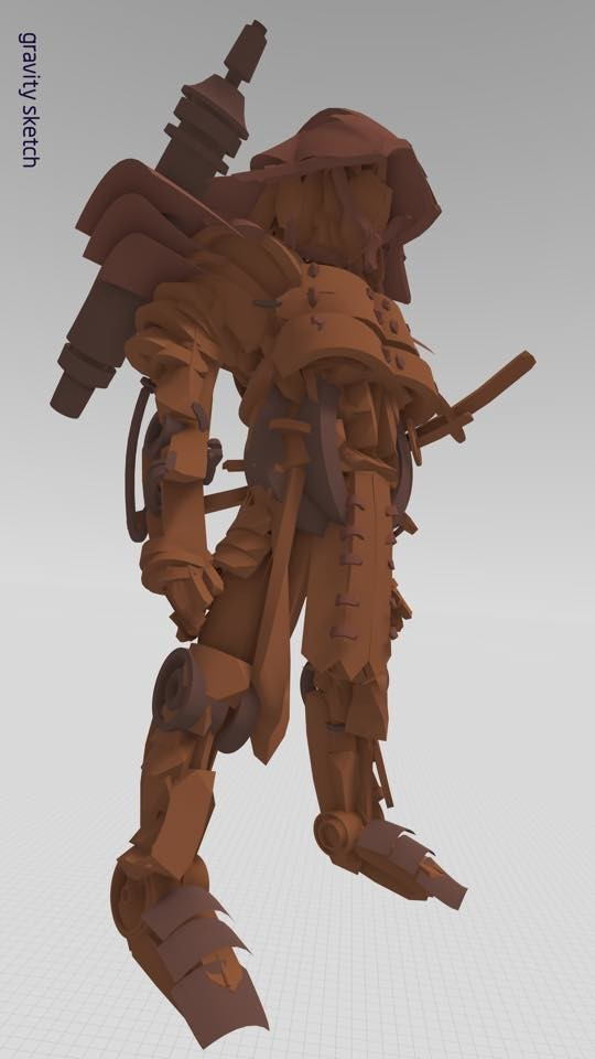 VR sketch using Gravity Sketch