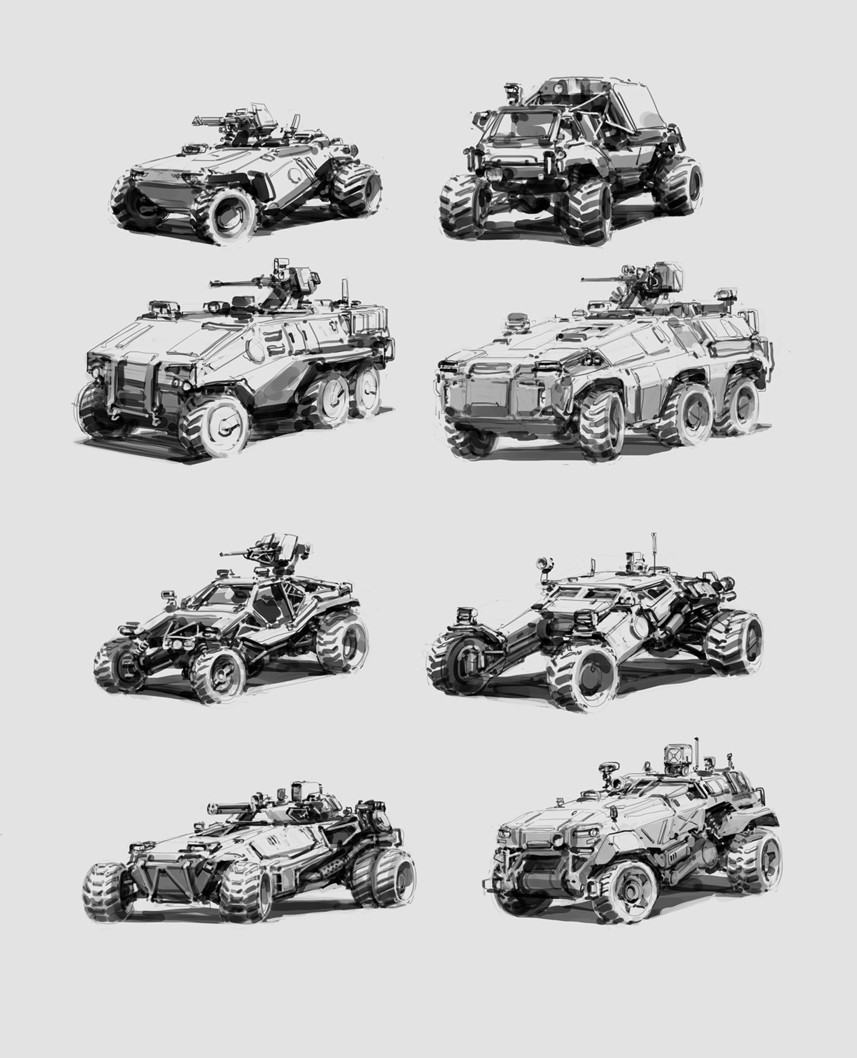 Alex ichim vehicle sketches
